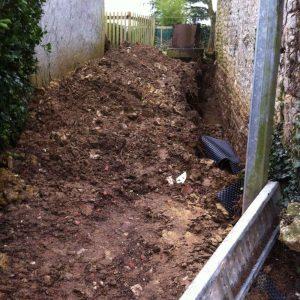 gite la grange : travaux de drainage